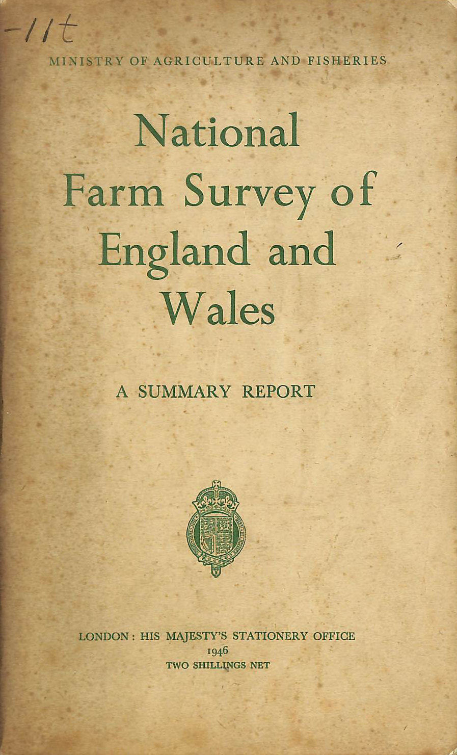 Image for National Farm Survey of England and Wales (1941 - 1943). A Summary Report.