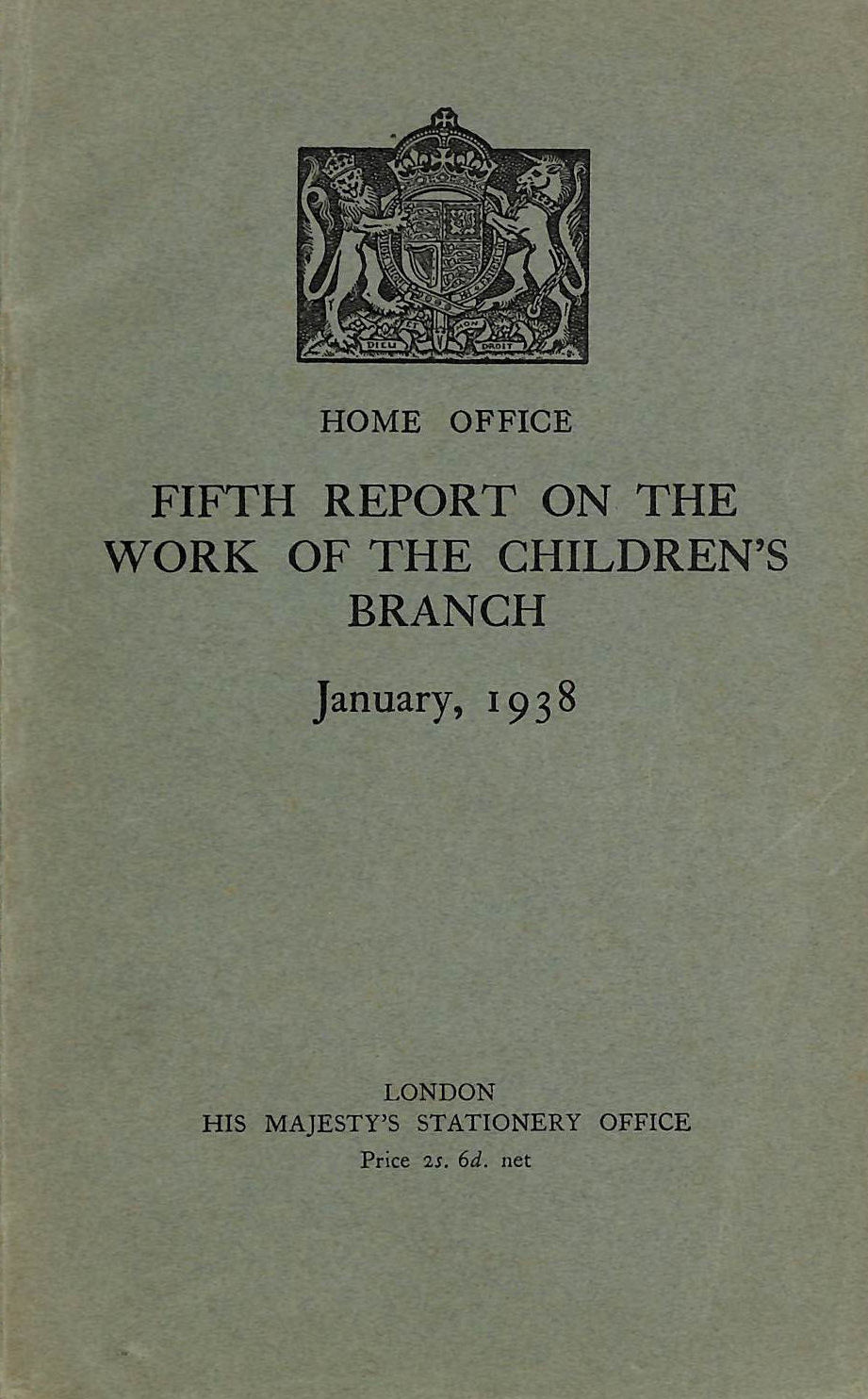Image for Fifth Report on the Work of the Children's Branch