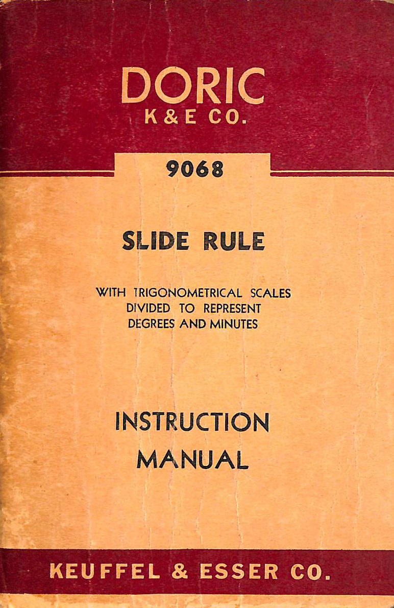 Image for Doric Slide Rule 9068 Instruction Manual