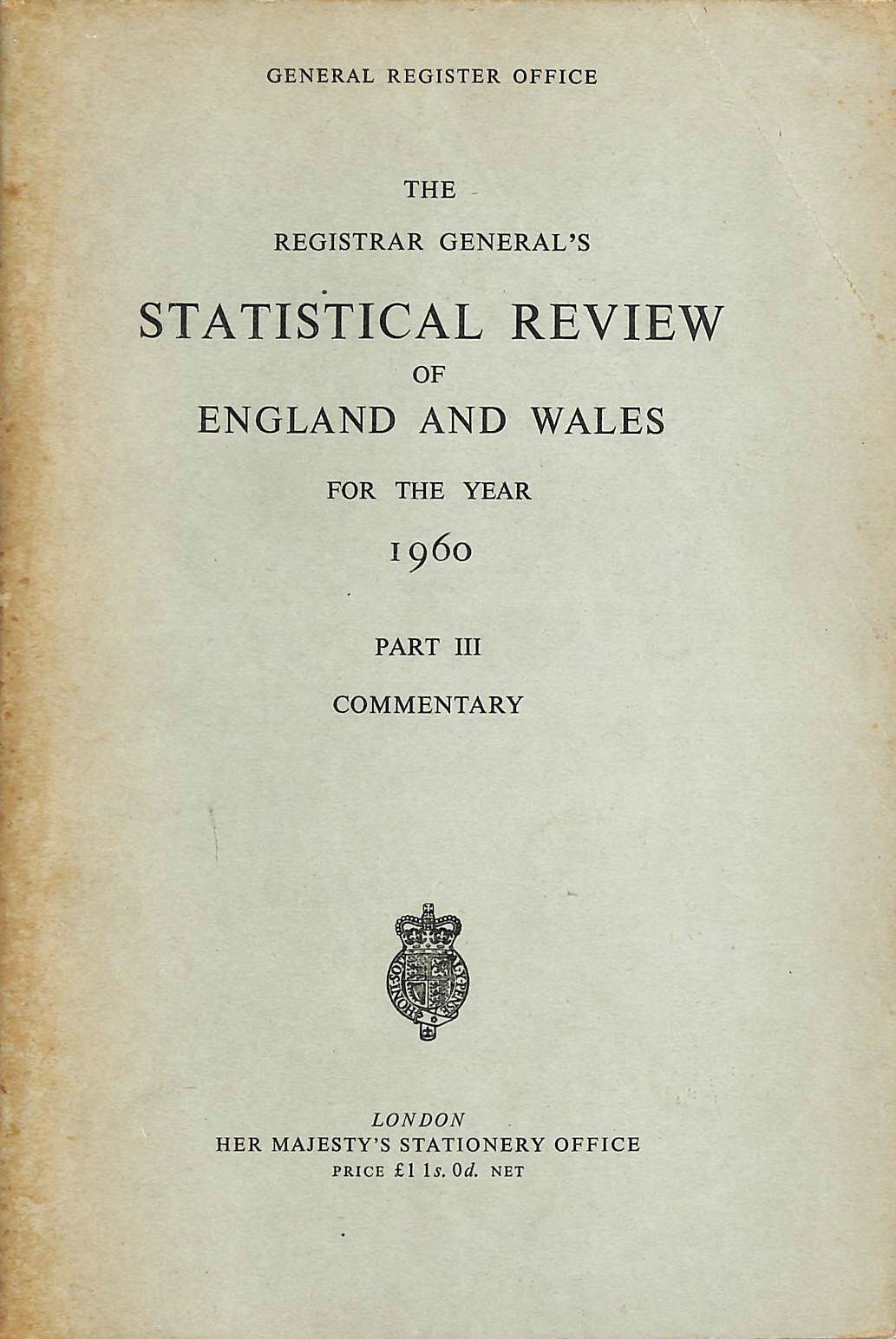 Image for Statistical Review of England and Wales Part III commentary