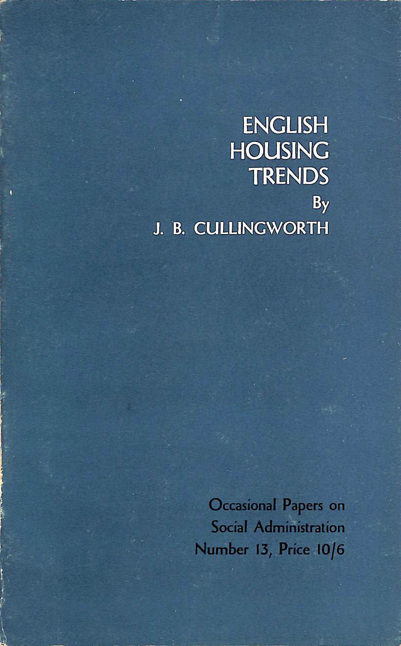 Image for English housing trends: A report on the Rowntree Trust Housing Study (Rowntree Trust Housing Study:Occasional papers on social administration;no 13)