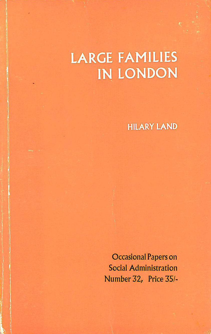Image for Large families in London: A study of 86 families (Occasional papers on social administration)