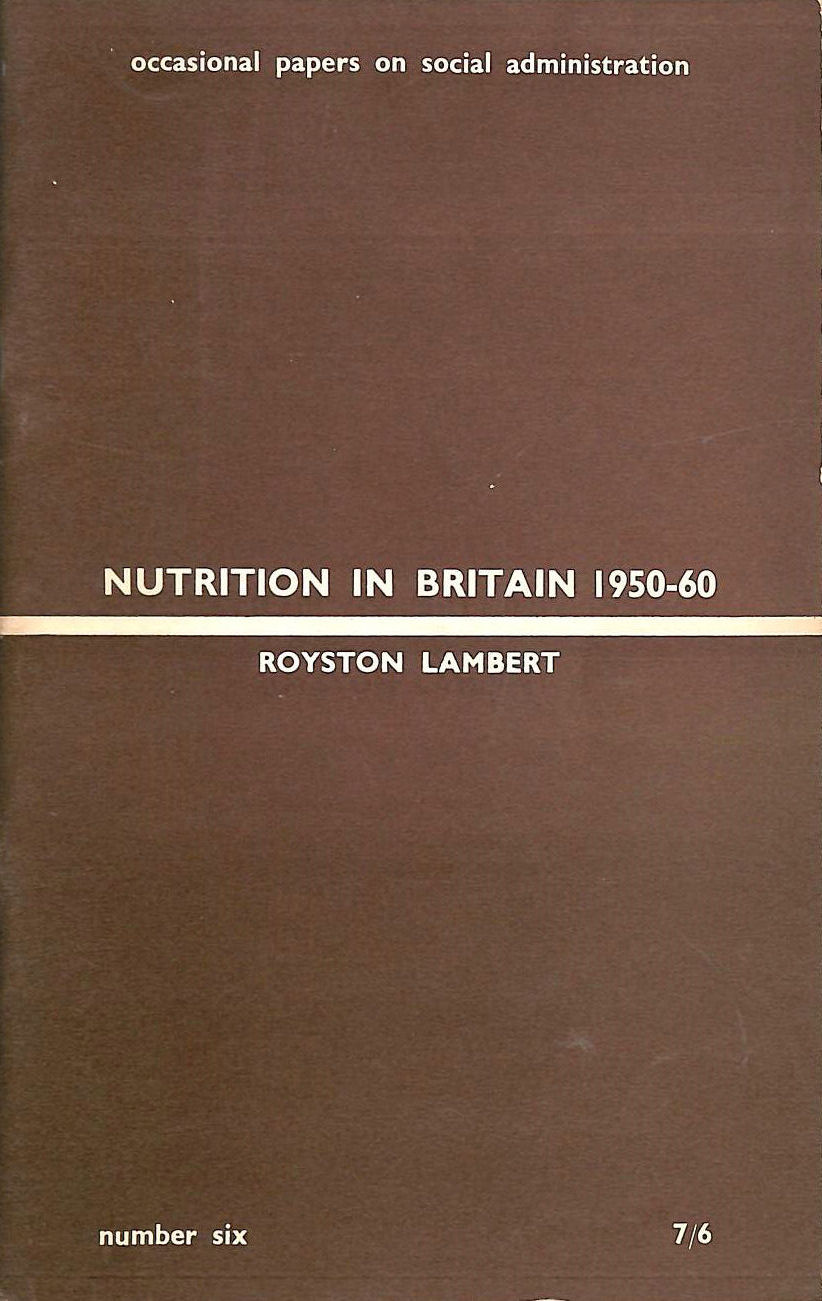 Image for Nutrition in Britain 1950-60
