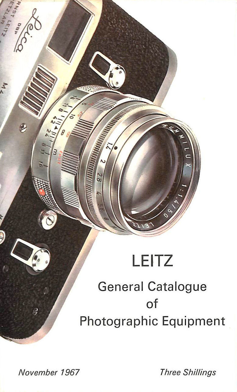 Image for Leitz General Catalogue Of Photographic Equipment: November 1967