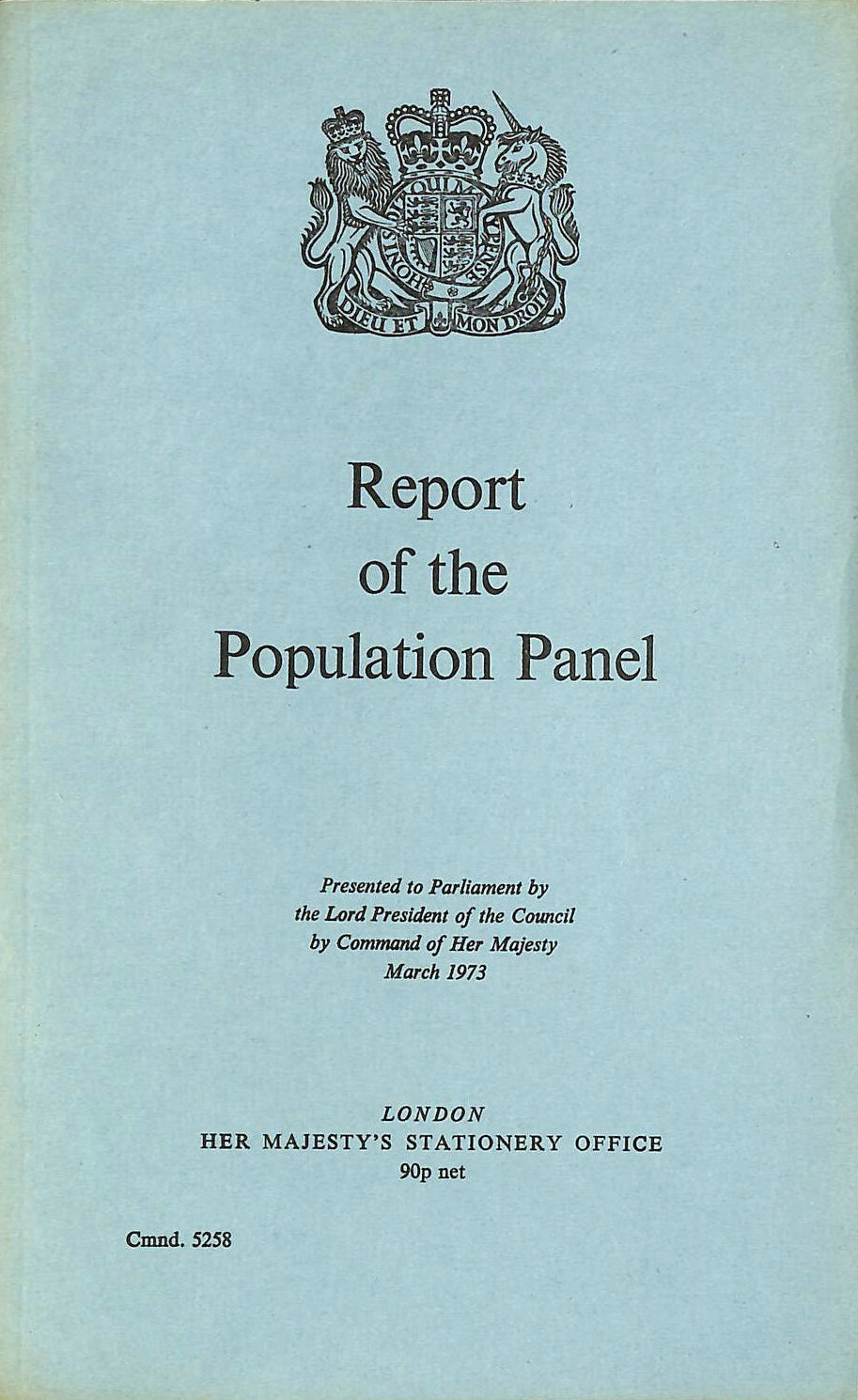Image for Population Panel Report (Command 5258)
