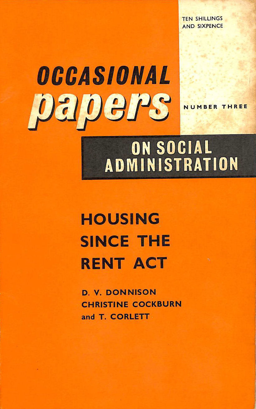 Image for Housing since the rent act