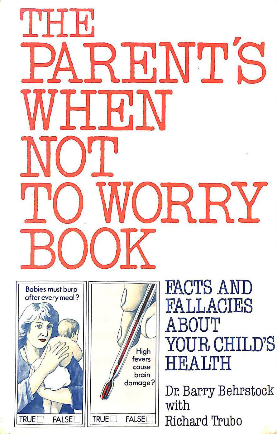 Image for Parents' When Not to Worry Book