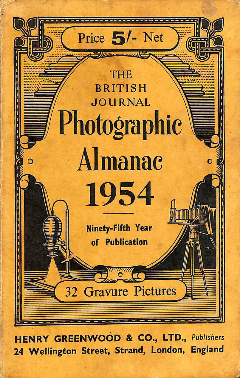 Image for The British Journal Photographic Almanac 1954 32 gravure pictures