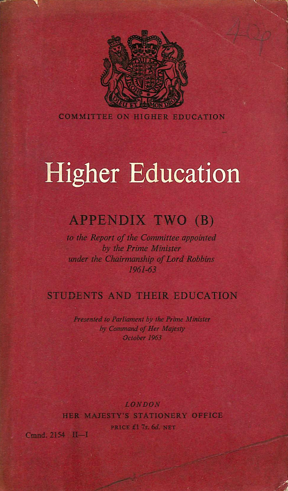 Image for Higher Education, Appendix Two (B)