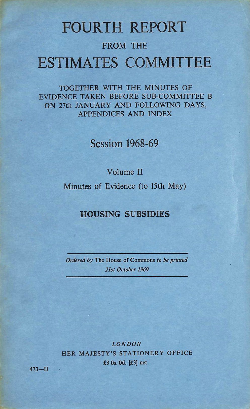 Image for Fourth Report from the Estimates Committee, Volume II