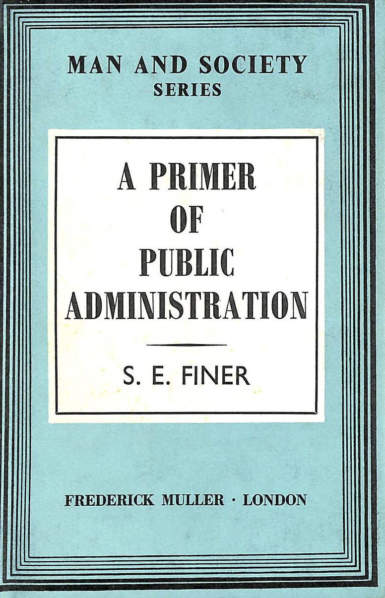 Image for A primer of Public Administration