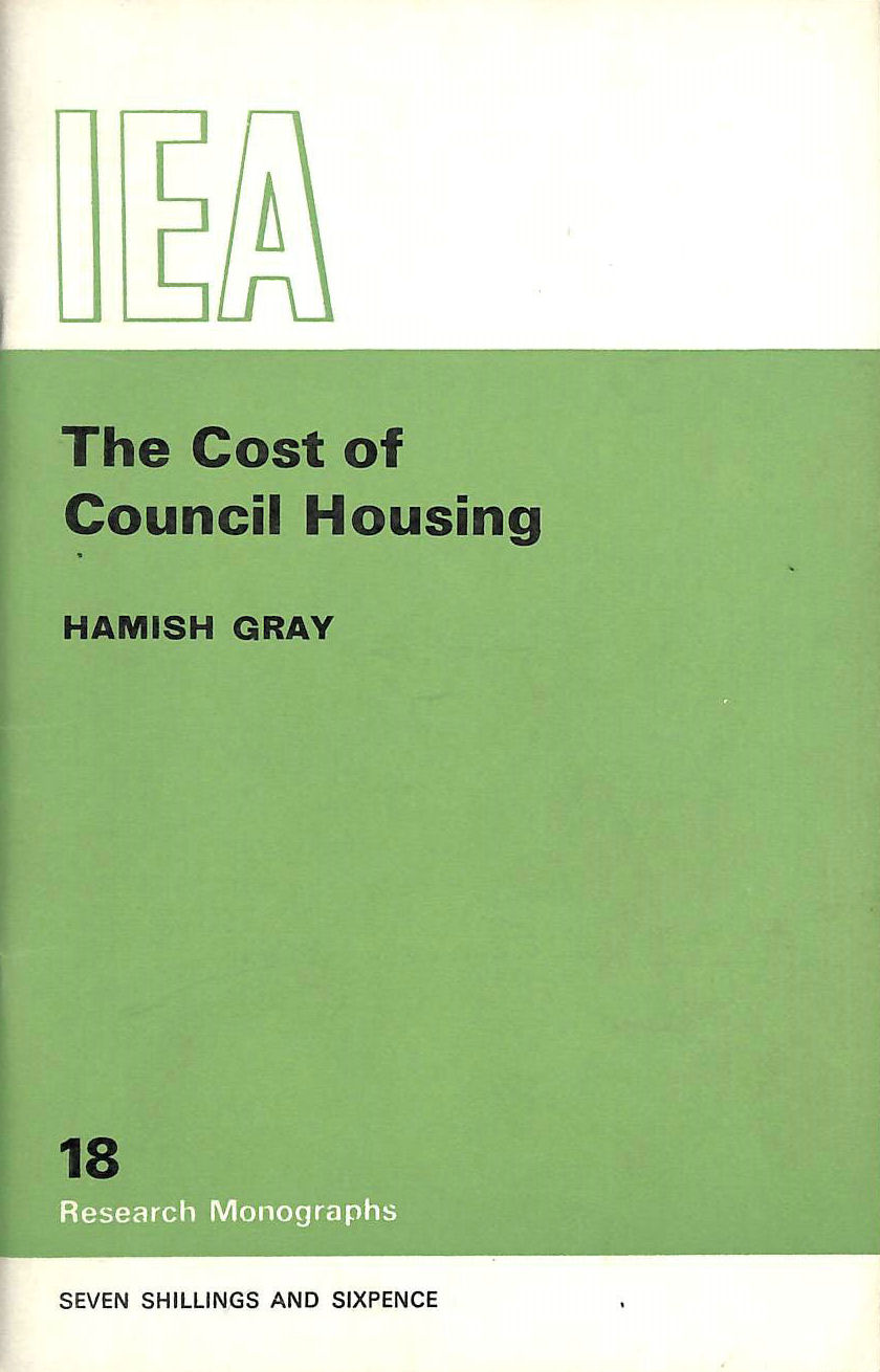 Image for Cost of Council Housing (Research Monograph)