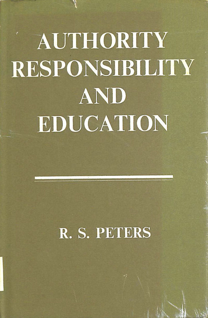 Image for Authority Responsibilty and education