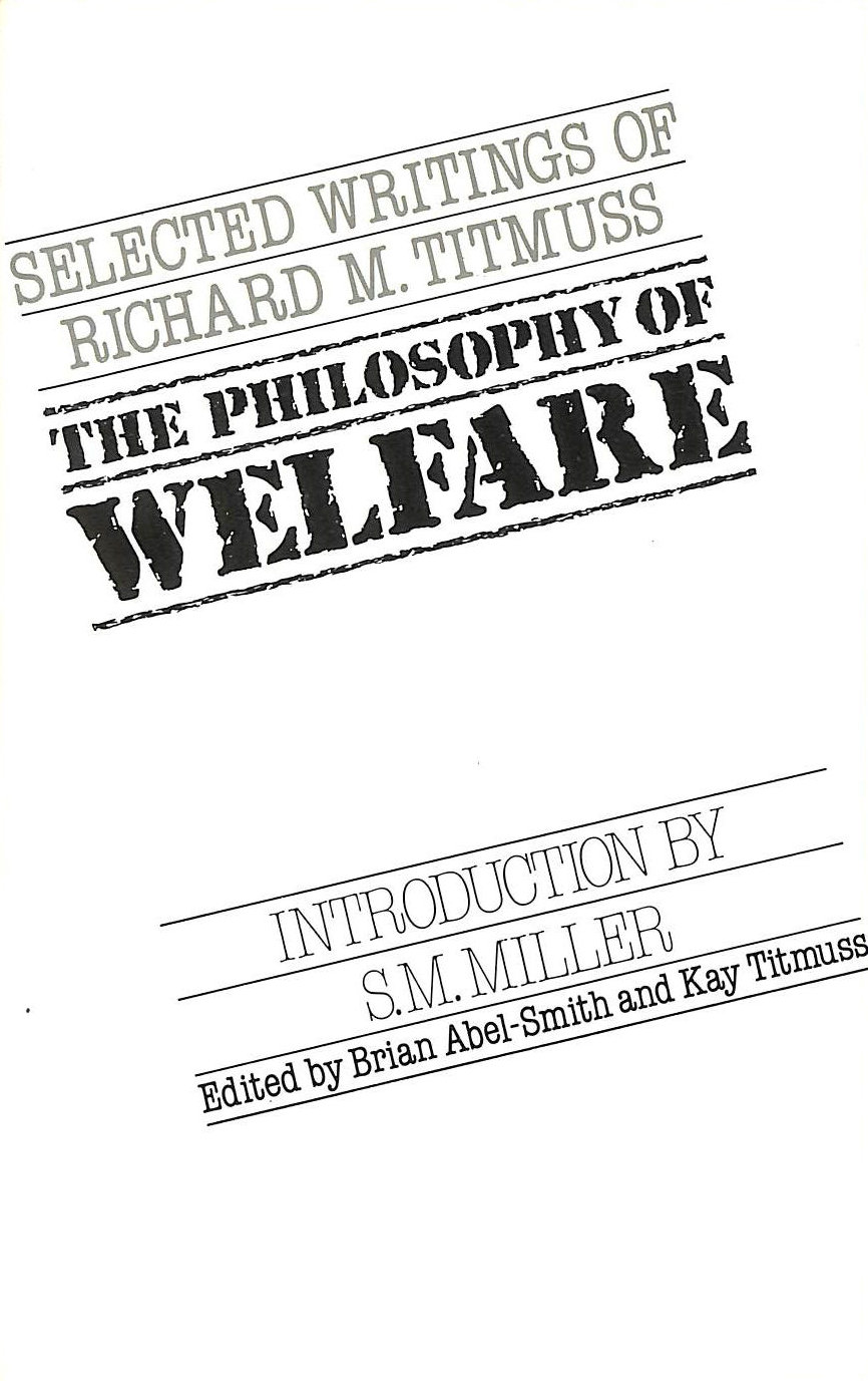 Image for The Philosophy of Welfare