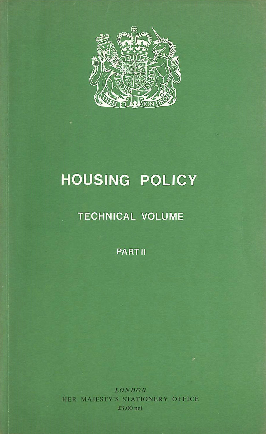 Image for Housing Policy Technical Volume: Pt. 2