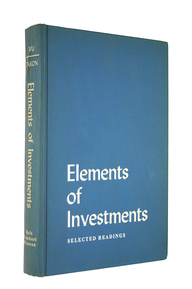 Image for Elements of investments: Selected readings