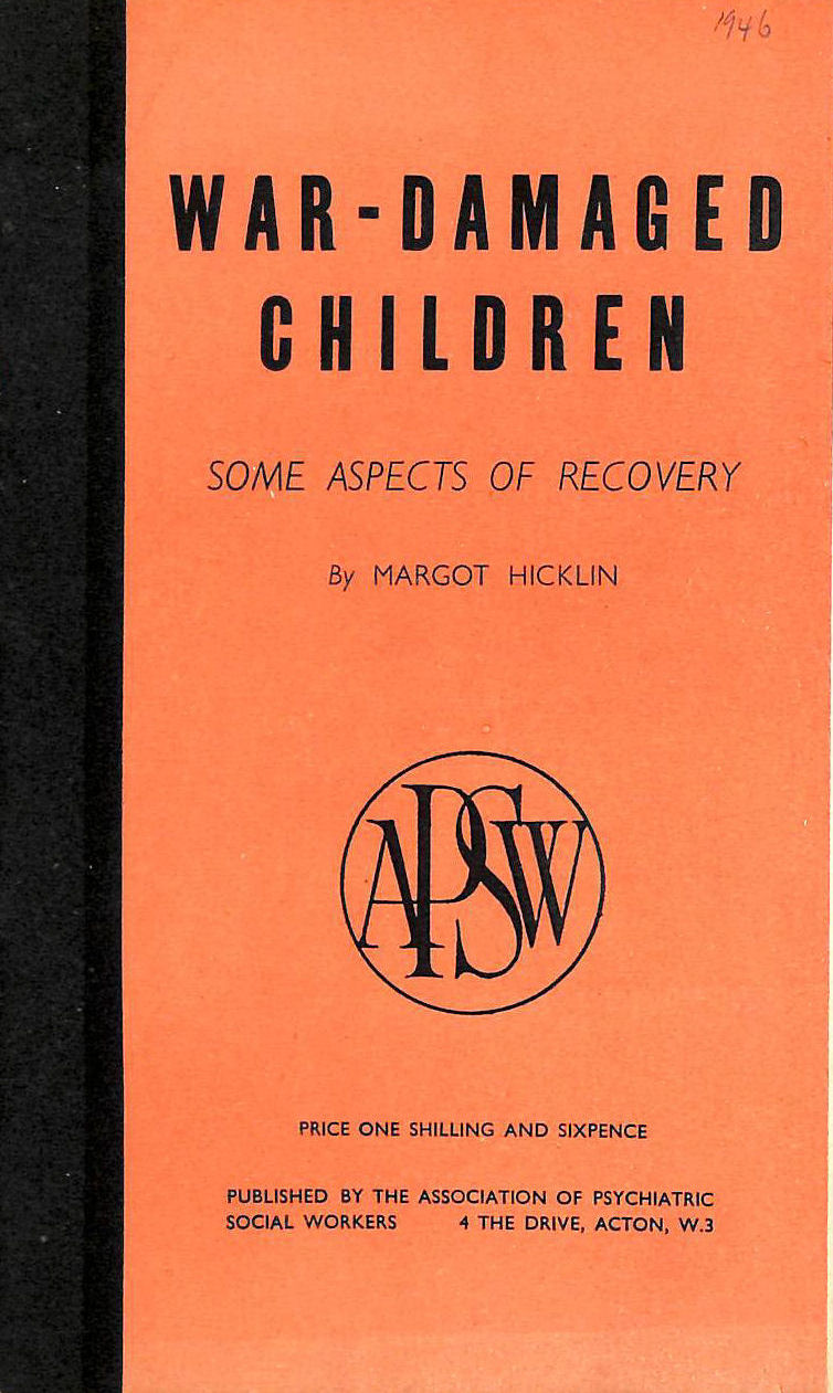Image for War-Damaged Children: Some Aspects Of Recovery