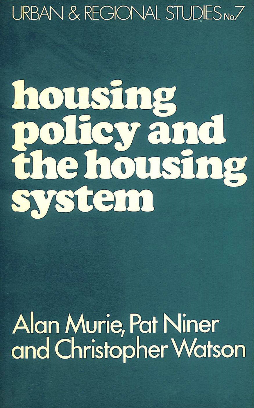 Image for Housing Policy and the Housing System