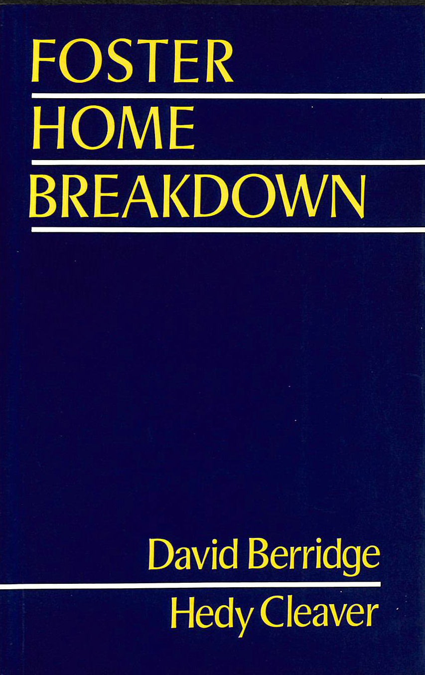 Image for Foster Home Breakdown (Practice of Social Work)