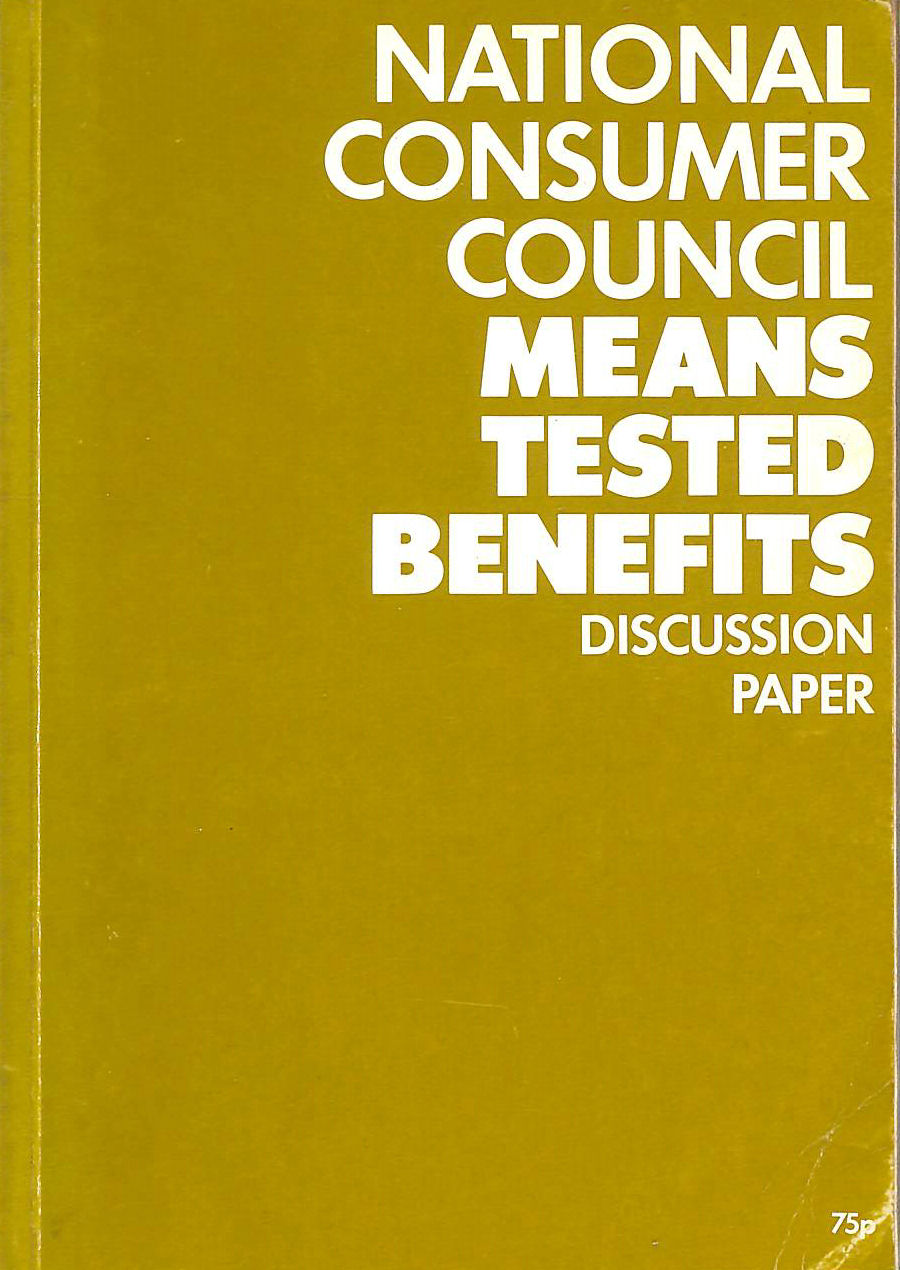 Image for Means-tested Benefits: A Discussion Paper