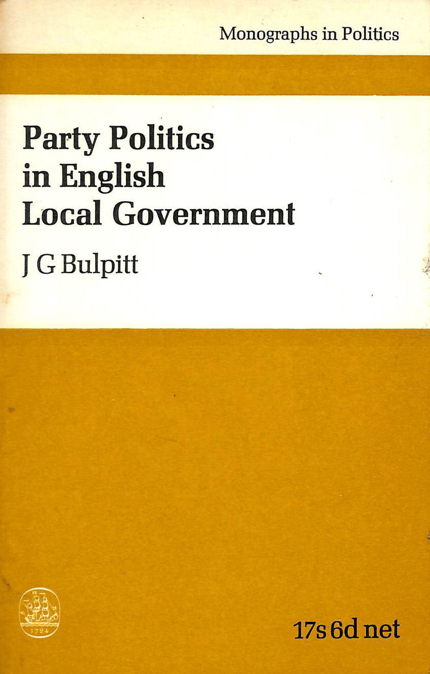 Image for Party Politics in English Local Government