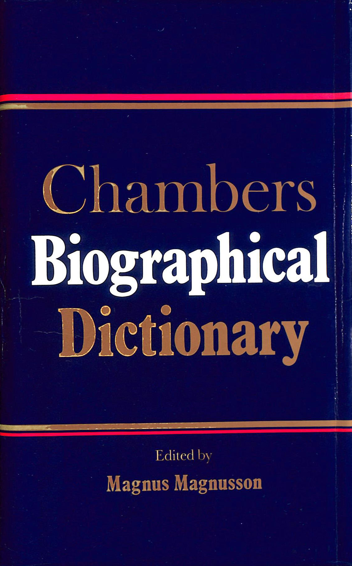 Image for Chambers Biographical Dictionary