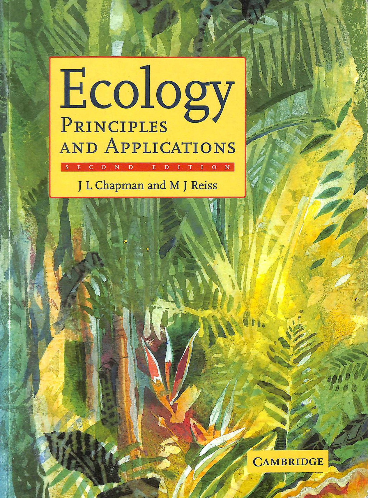 Image for Ecology: Principles and Applications