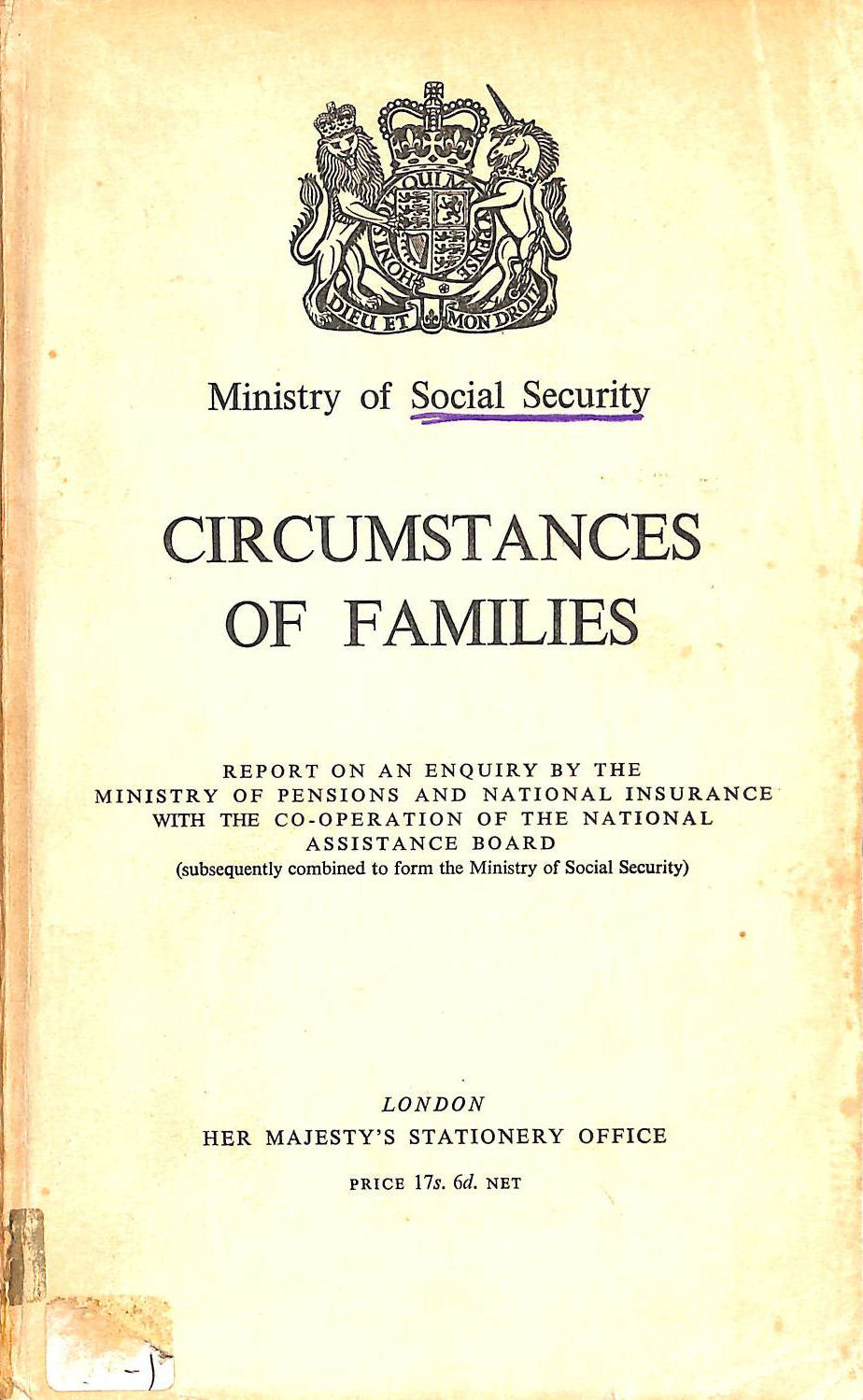 Image for CIRCUMSTANCES OF FAMILIES