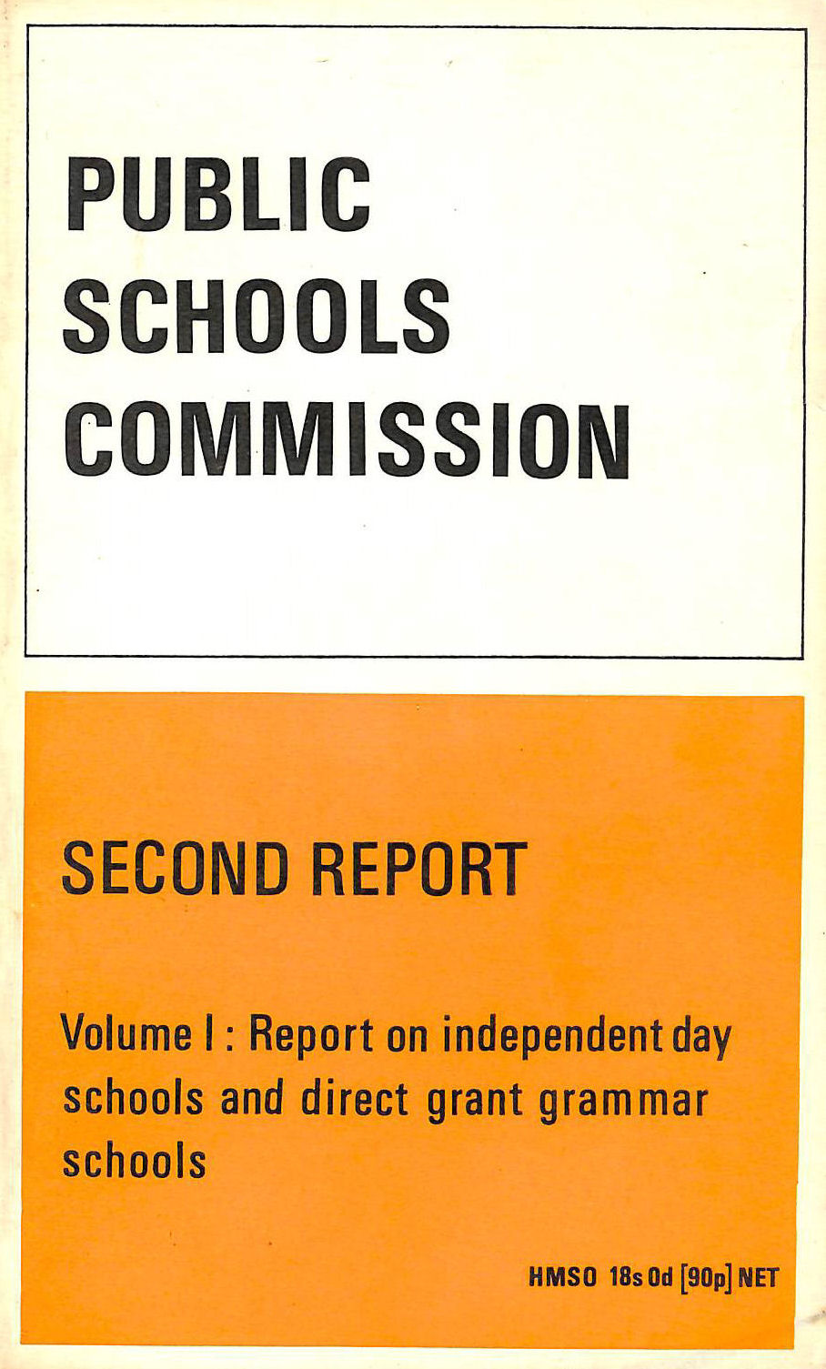 Image for Public Schools Commission: v. 1: 2nd Report