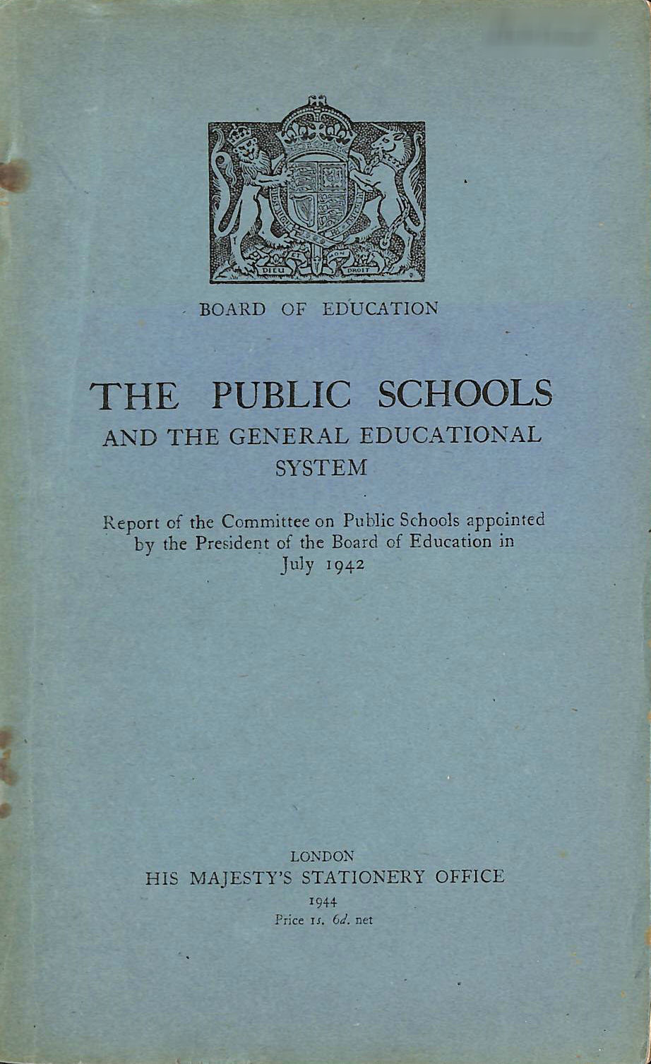 Image for The Public Schools and the egeneral Education System