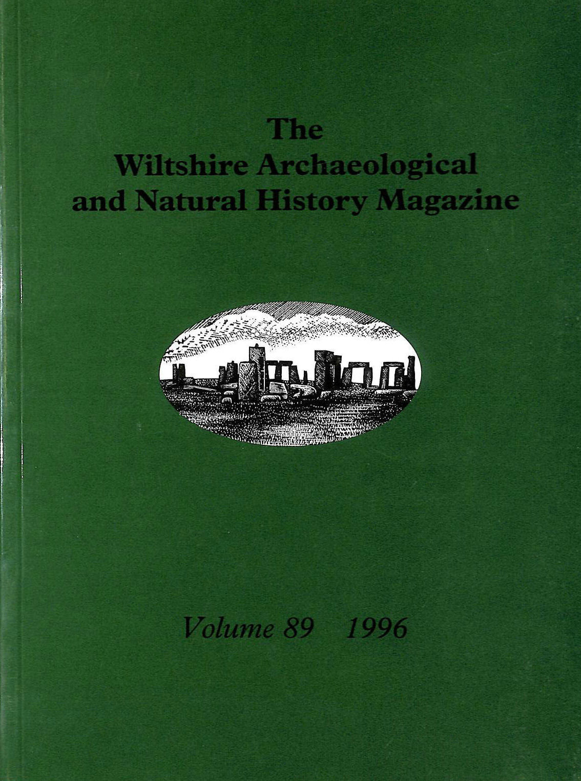 Image for The Wiltshire Archaeological and Natural History Magazine Volume 89 1996
