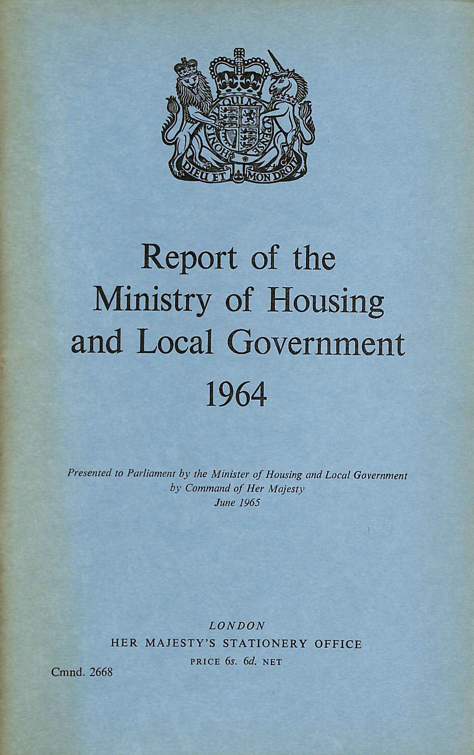 Image for Report of the Ministry of Housing and Local Government 1964