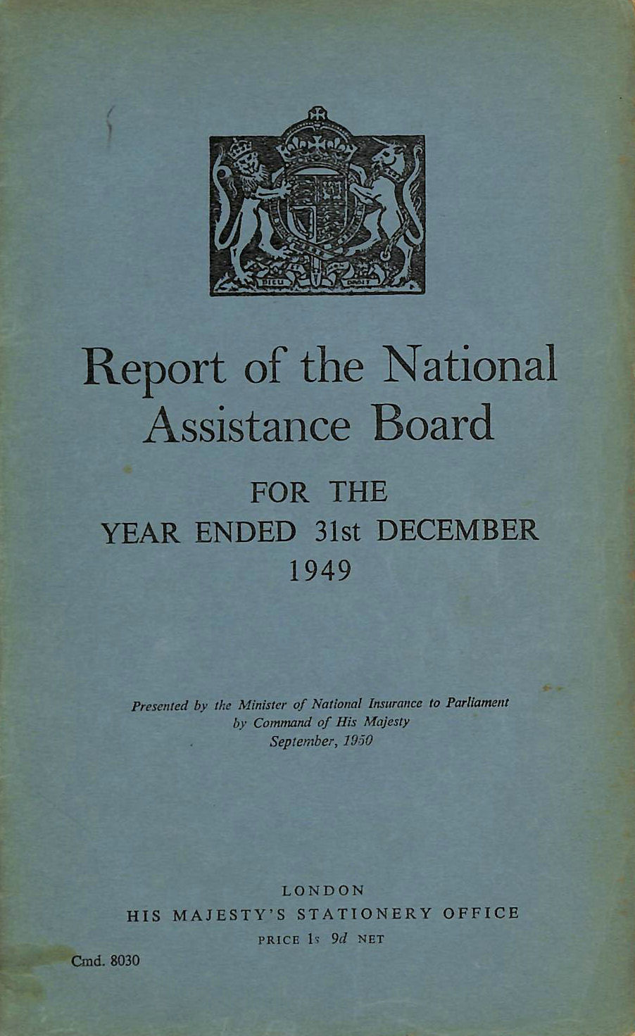 Image for Report of the National Assistance Board 1949