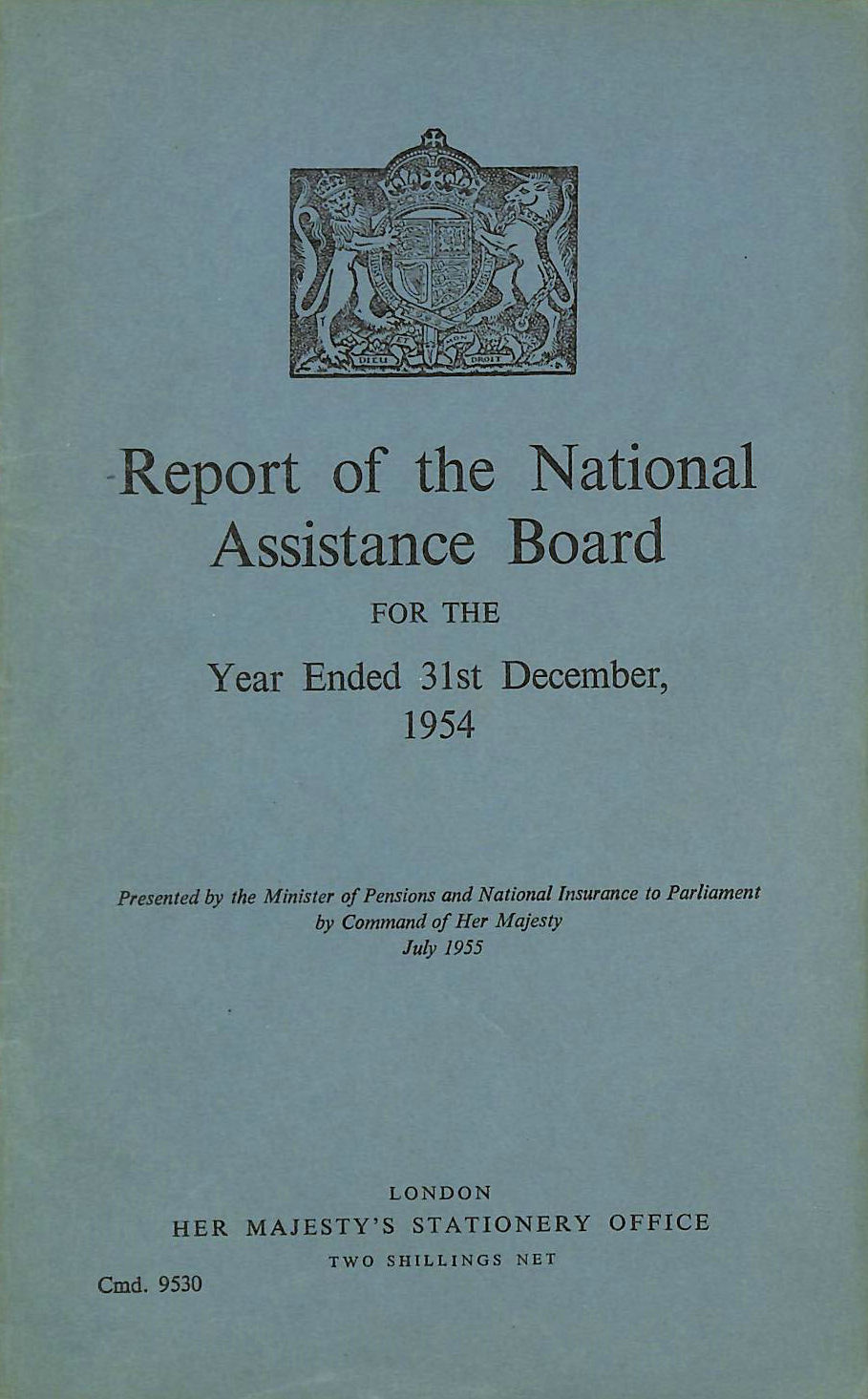 Image for Report of the National Assistance Board 1954