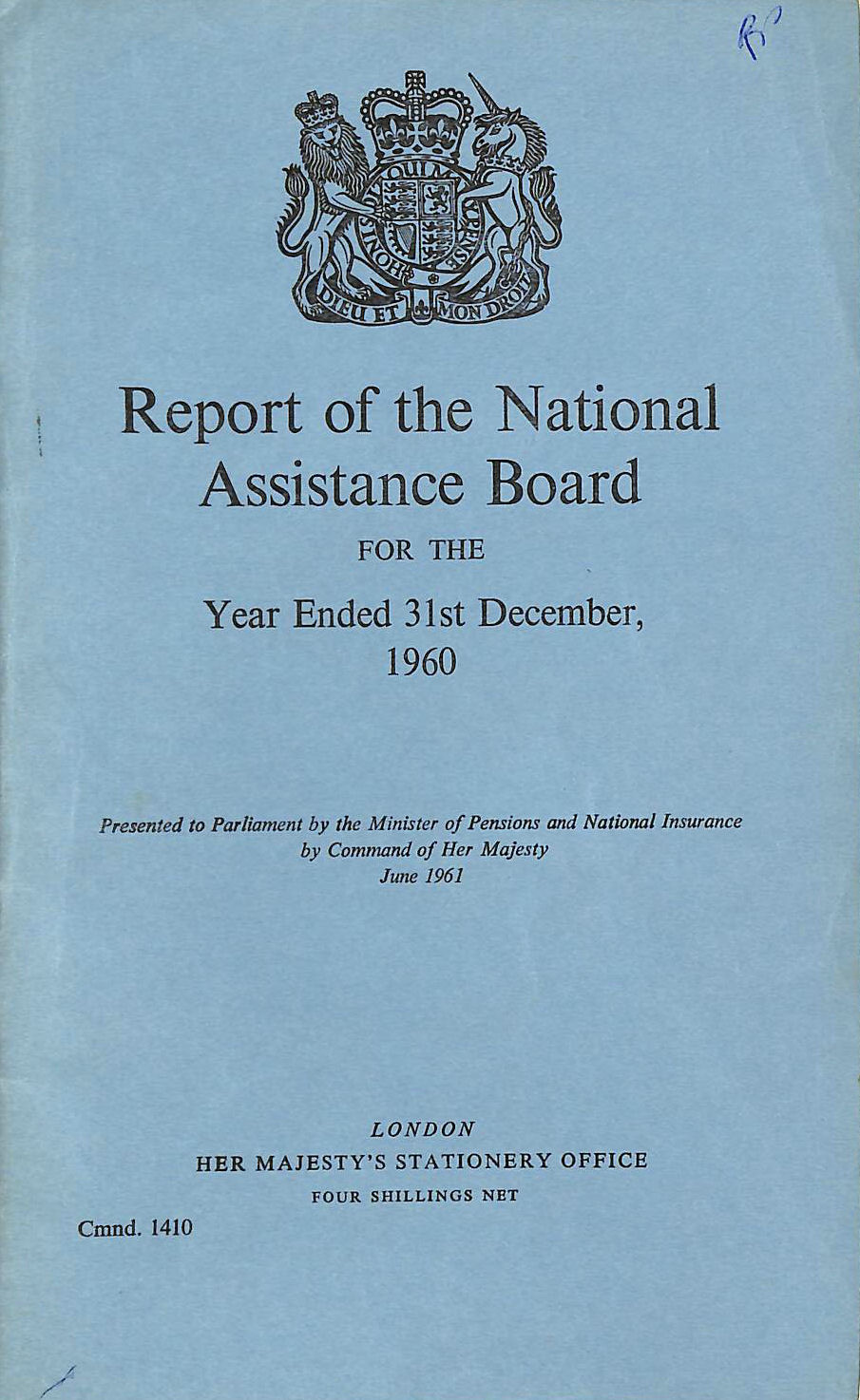 Image for Report of the National Assistance Board 1960