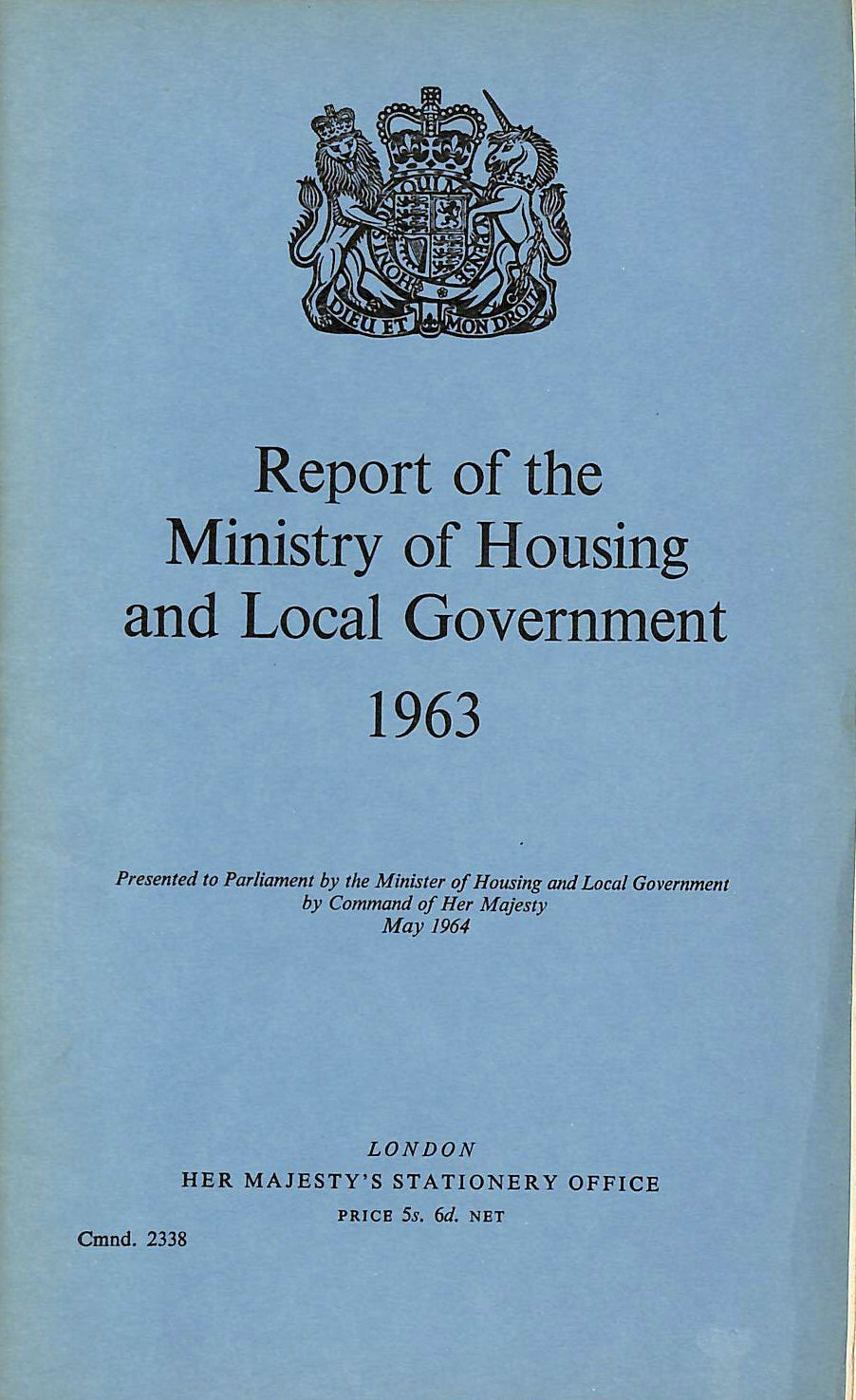 Image for Report of the Ministry of Housing and Local Government 1963