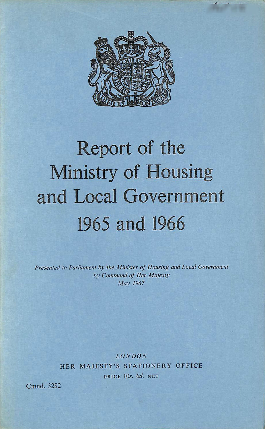 Image for Report of the Ministry of Housing and Local Government 1965 and 1966