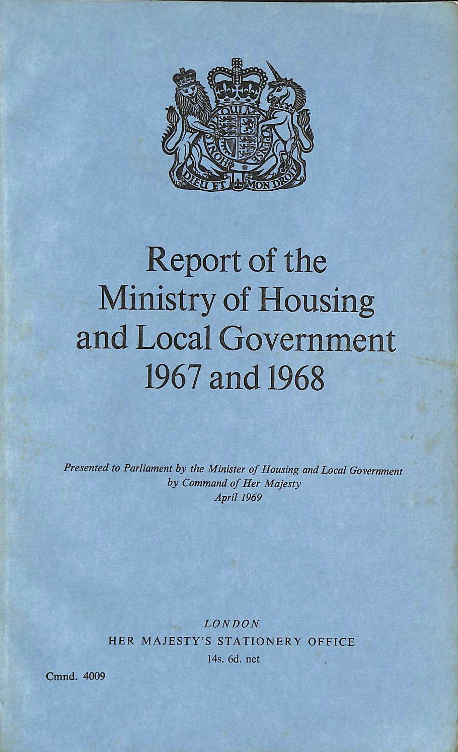 Image for Report of the Ministry of Housing and Local Government 1967 and 1968