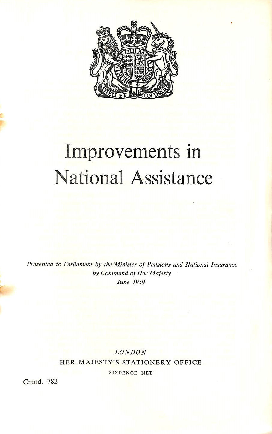Image for Improvements to National Assistance