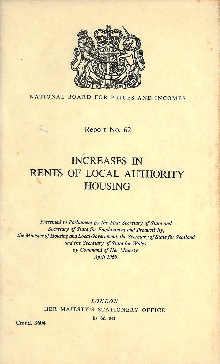 Image for Increases in rents of local authority housing (Cmnd. 3604)