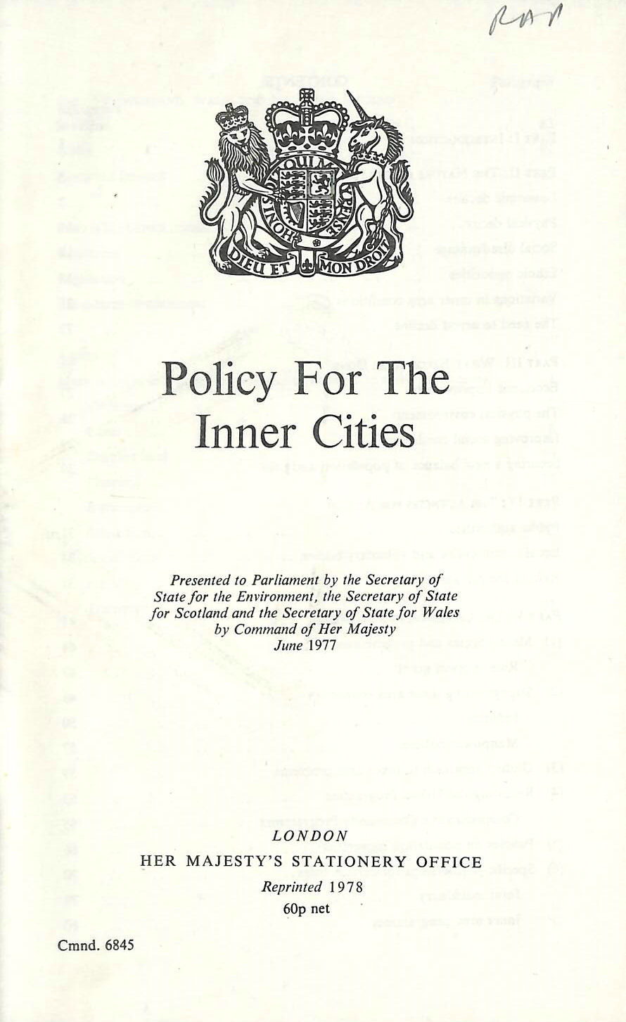 Image for Policy for the Inner Cities (Command Paper)