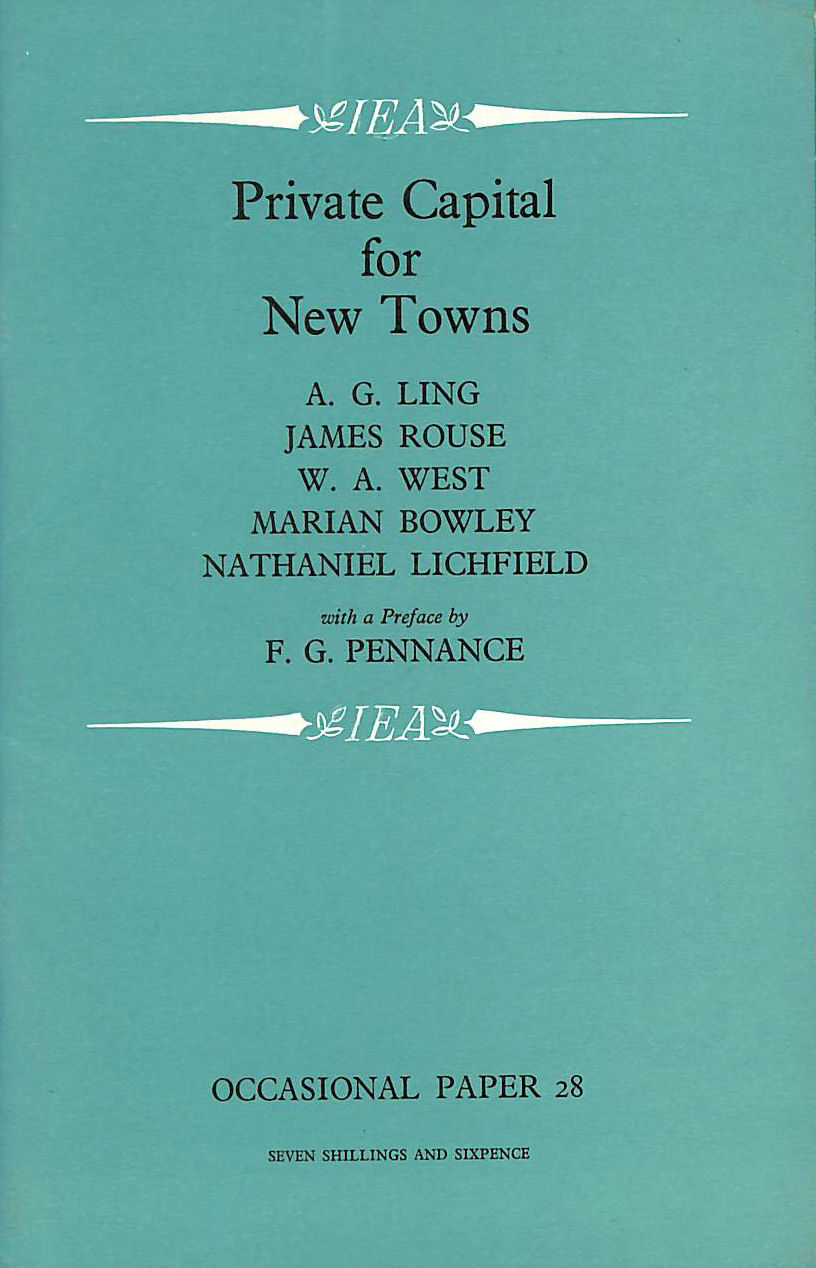 Image for Private Capital for New Towns (Occasional Paper)