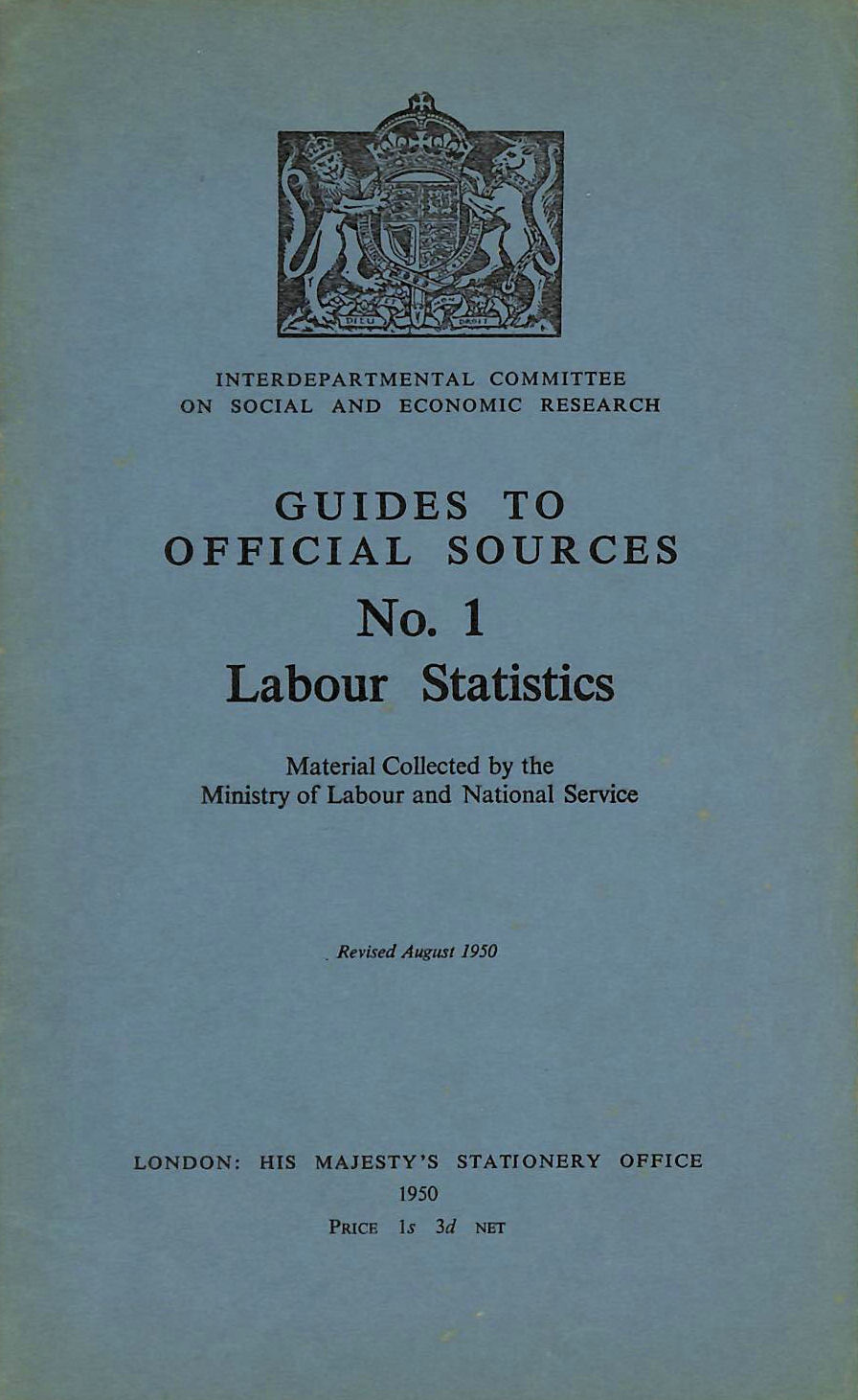 Image for Guide to Official Sources No.1 Labour Statistics.