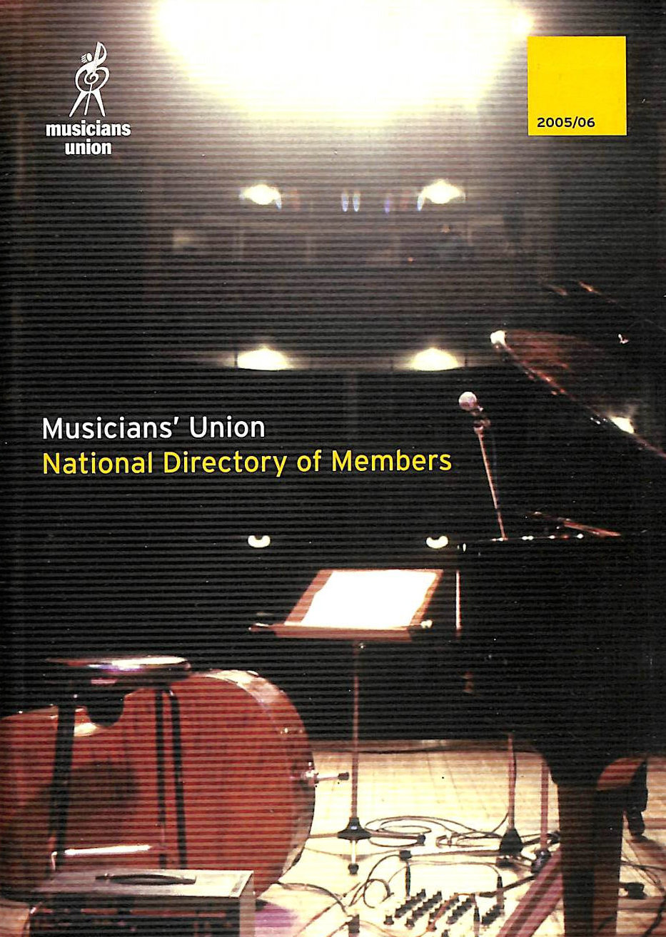 Image for Musicians' Union National Directory of Members 2005 / 2006