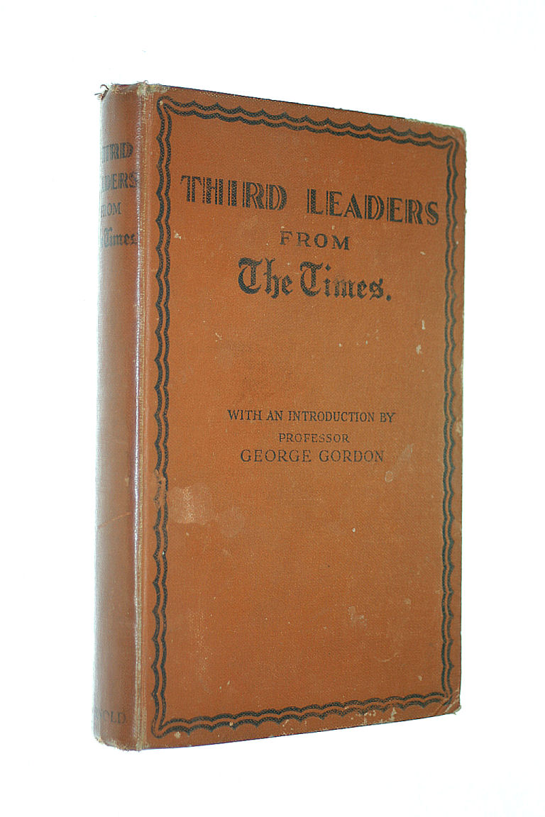 Image for Third Leaders from The Times