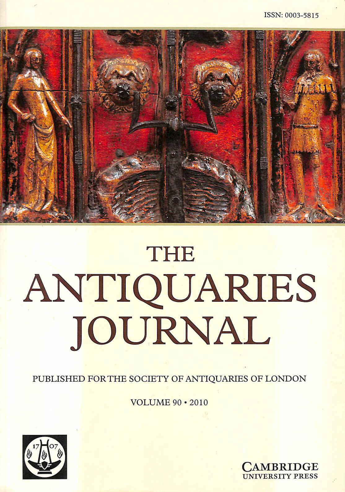 Image for The Antiquaries Journal: Volume 90: 2010