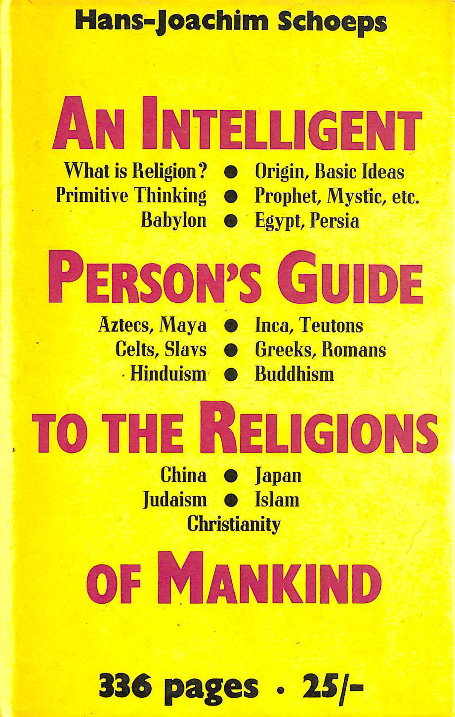 Image for Intelligent Person's Guide to the Religions of Mankind