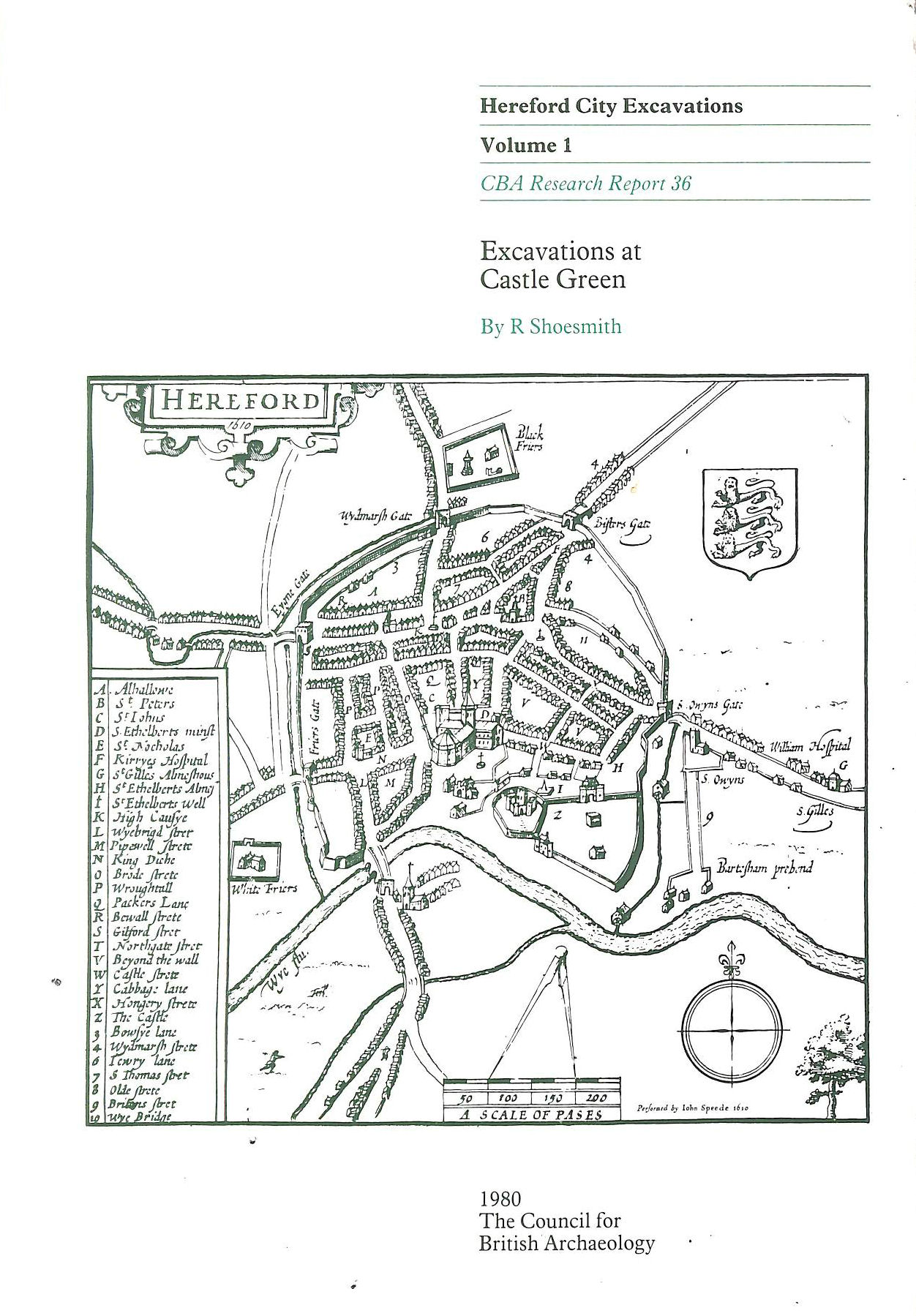 Image for Hereford City Excavations: Excavations at Castle Green v. 1 (CBA Research Reports)