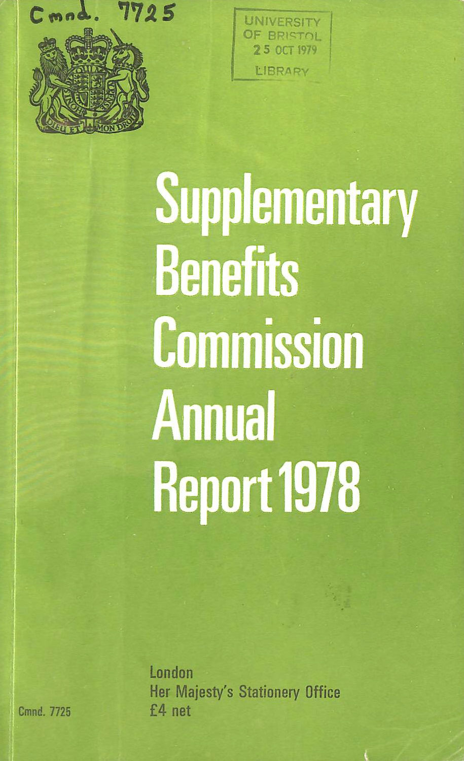 Image for Supplementary Benefits Commission Annual Report 1978