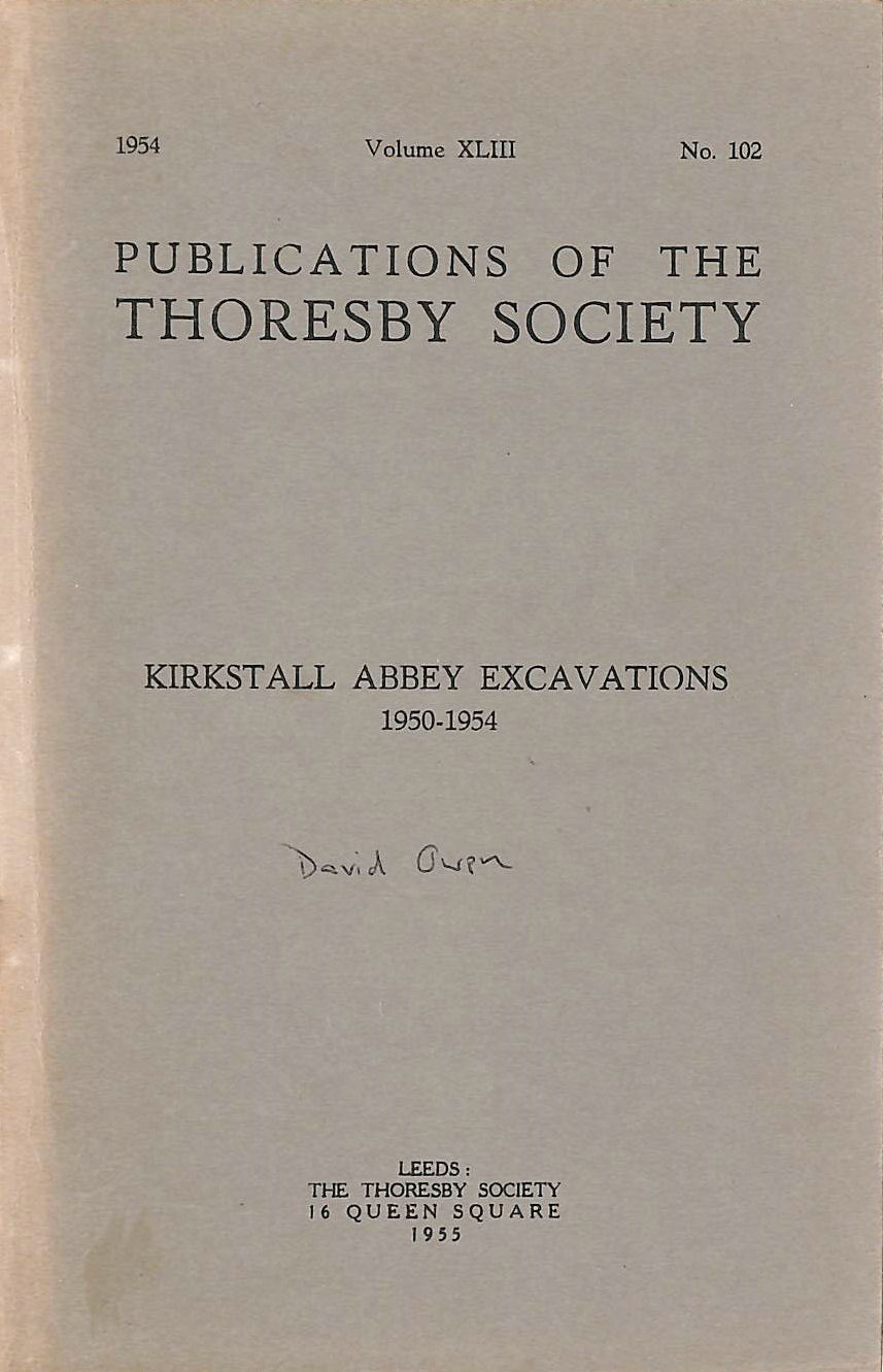 Image for Publications of the Thoresby Society Kirkstall Abbey Excavations 1950-54